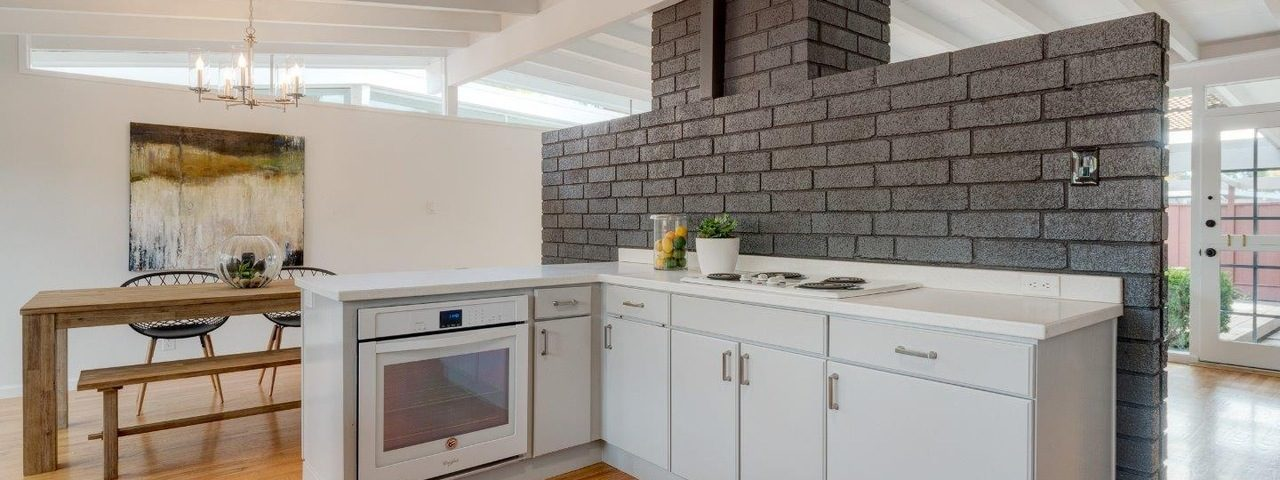 Possibly too open kitchen format in an Eichler house