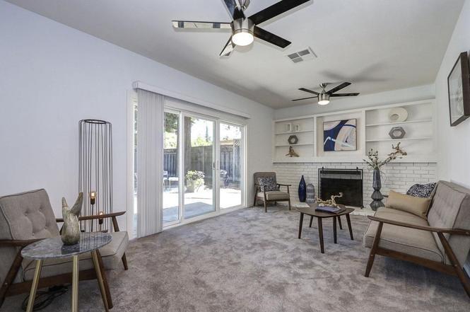 New, updated living room, Sunnyvale